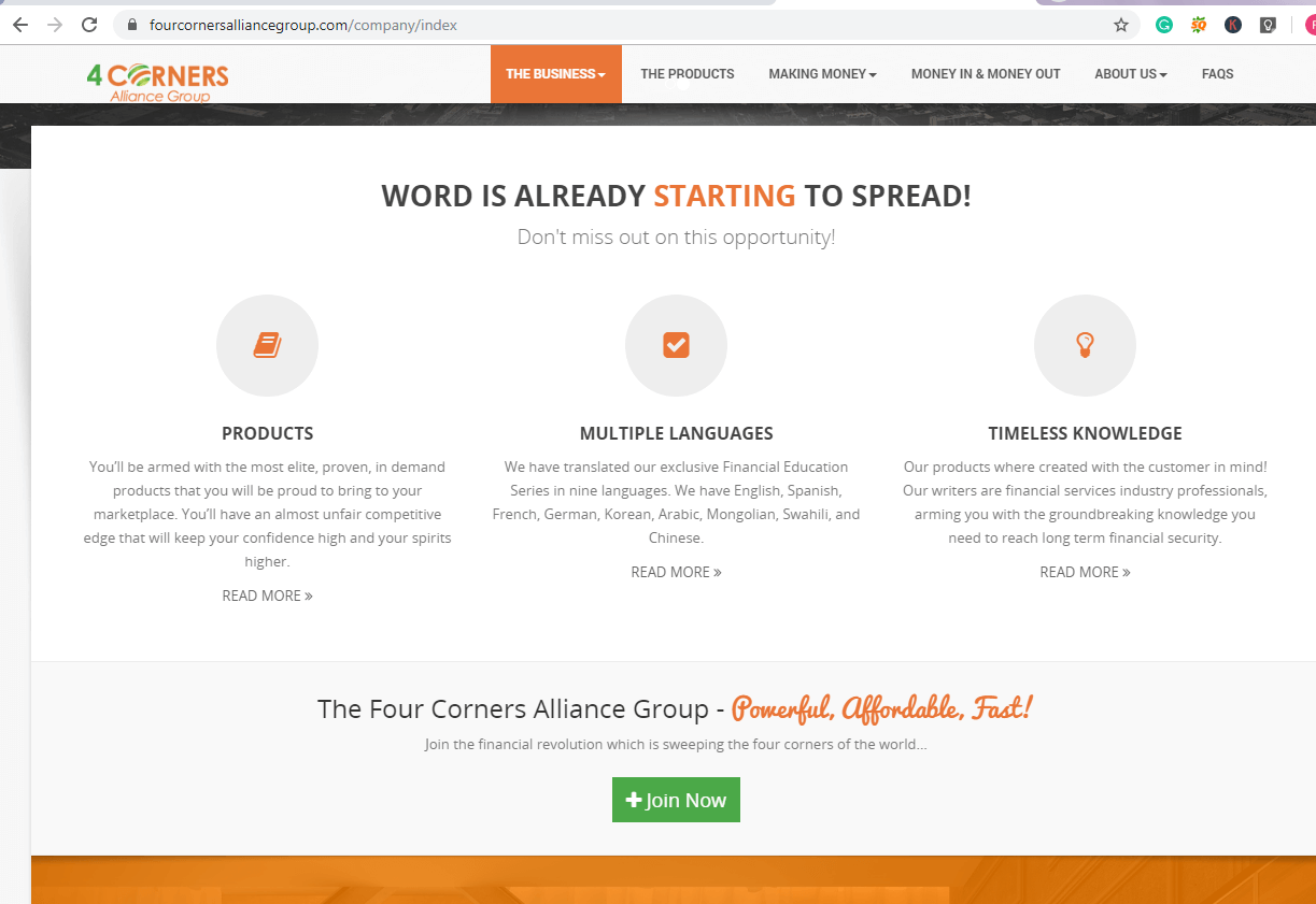 Is 4 Corners Alliance Group a scam